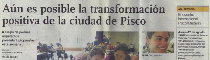 Nota en El Comercio sobre el Encuentro Internacional