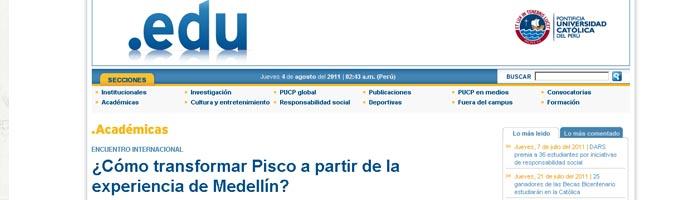 Espacio Expresión en el noticiero virtual .edu de la Pontificia Universidad Católica del Perú