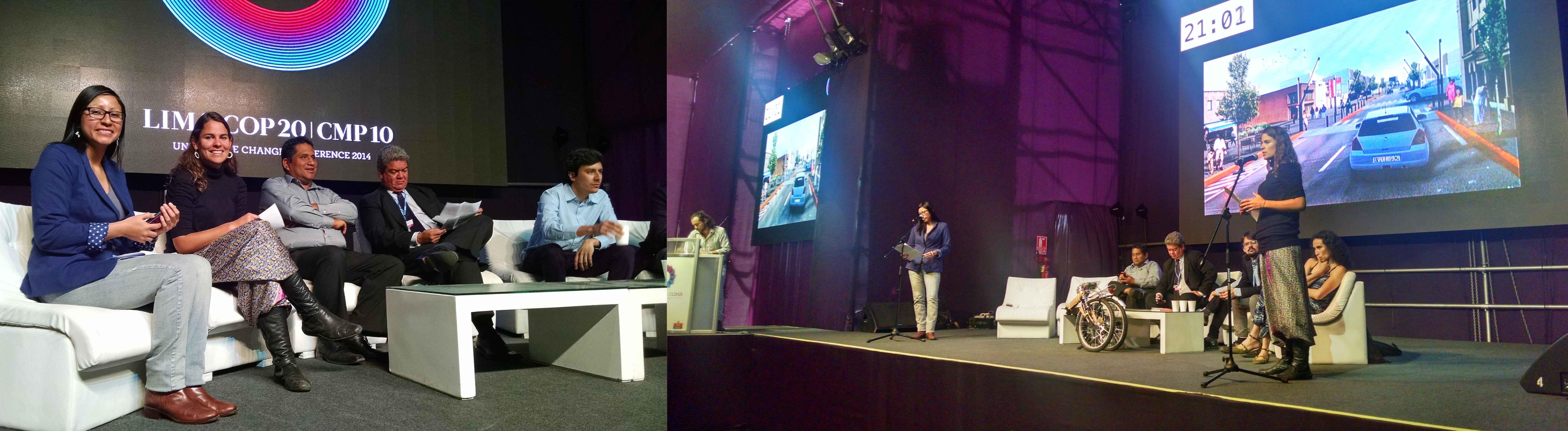 Espacio Expresión en la COP 20  (Conferencia de Partes para la lucha contra el Cambio Climático)